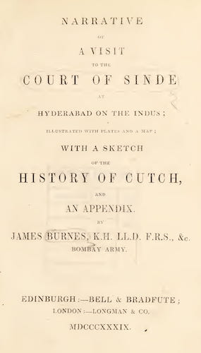 English - Narrative of a Visit to the Court of Sinde