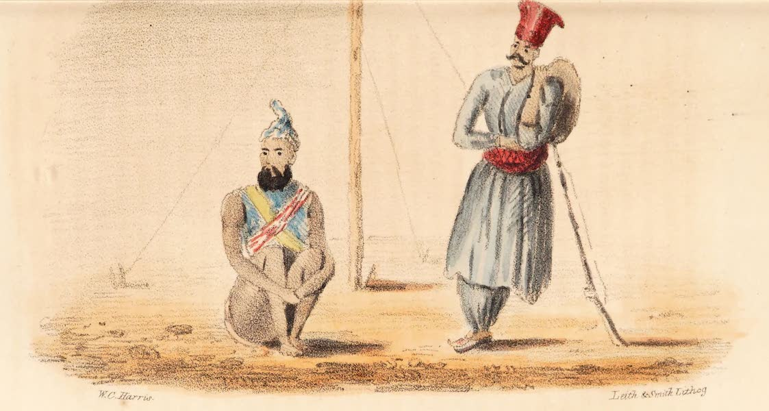 Narrative of a Visit to the Court of Sinde - The audacious Synd as sketched by Captain Delhoste (1839)