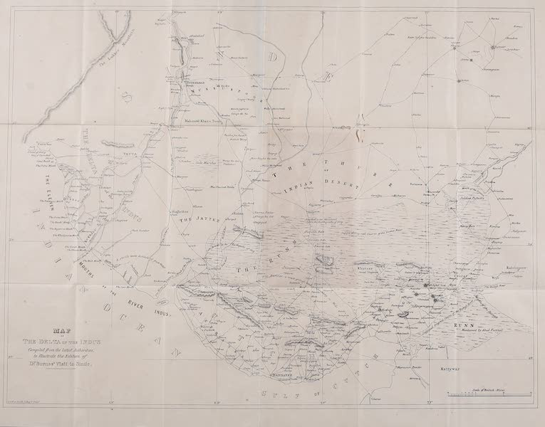 Narrative of a Visit to the Court of Sinde - Map of the Delta of the Indus (1839)