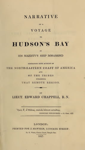 English - Narrative of a Voyage to Hudson's Bay in His Majesty's Ship Rosamond