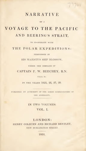 Travel & Scenery - Narrative of a Voyage to the Pacific and Beering's Strait Vol. 1