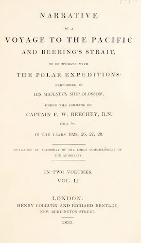 Travel & Scenery - Narrative of a Voyage to the Pacific and Beering's Strait Vol. 2