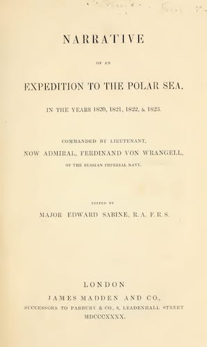 California Digital Library - Narrative of an Expedition to the Polar Sea