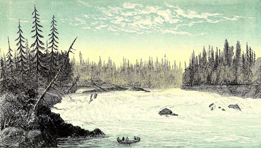 Narrative of the Canadian Red River Exploring Expedition Vol. 1 - Fall at Third Portage Above Ka-Ka-Beka (1860)