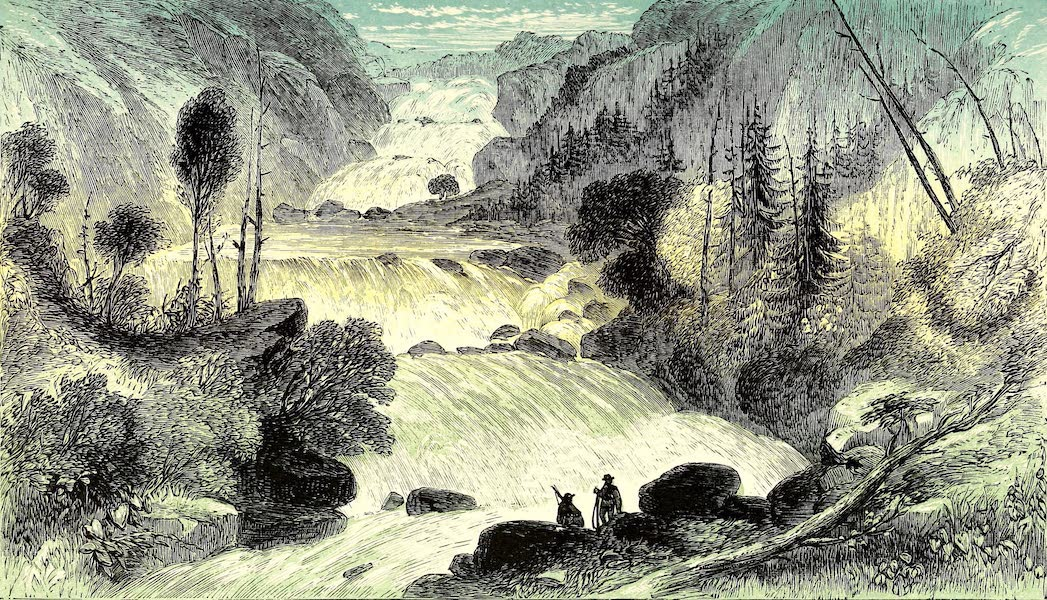 Narrative of the Canadian Red River Exploring Expedition Vol. 1 - Great Falls on Little Dog River (1860)