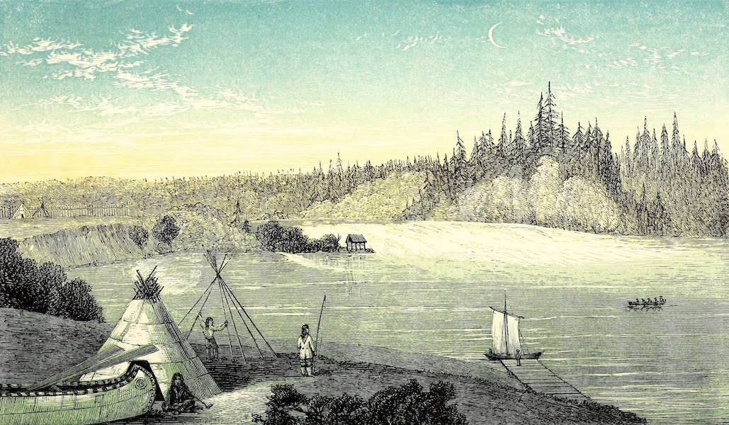 Narrative of the Canadian Red River Exploring Expedition Vol. 1 - Falls on Rainy River opposite Fort Frances (1860)