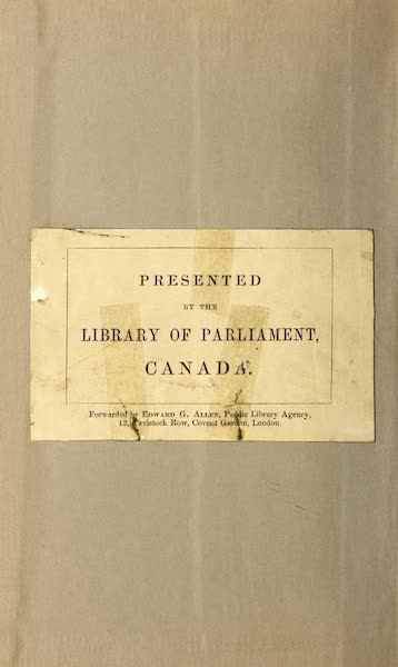 Narrative of the Canadian Red River Exploring Expedition Vol. 2 - Front Cover (1860)