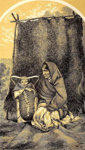 Narrative of the Canadian Red River Exploring Expedition Vol. 2 - An Ojibway Squaw with Papoose (1860)