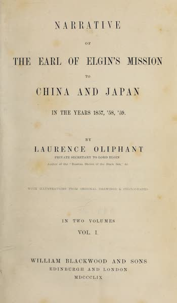 Narrative of the Earl of Elgin's Mission Vol. 1 - Title Page (1859)