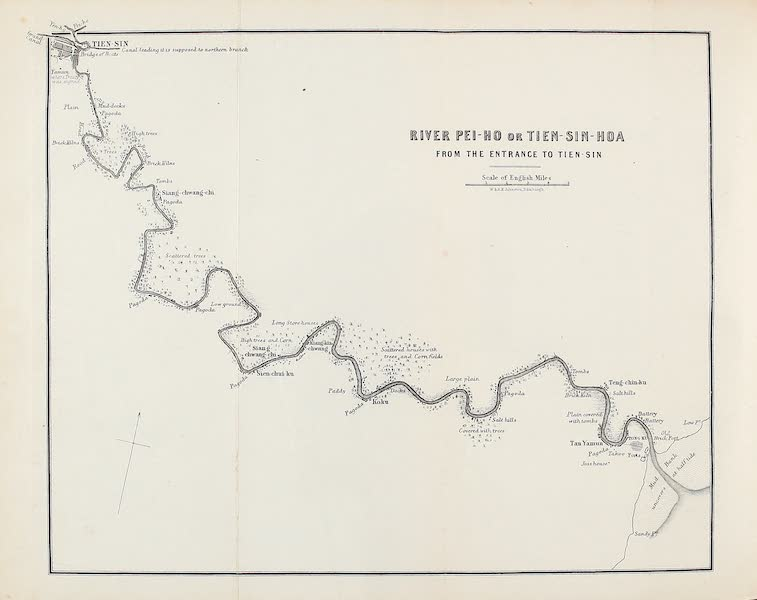 Narrative of the Earl of Elgin's Mission Vol. 1 - River Pei-ho or Tien-sin-hoa form the Entrance to Tien-sin (1859)