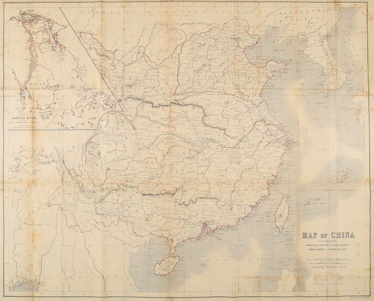 Narrative of the Earl of Elgin's Mission Vol. 1 - Map of China (1859)