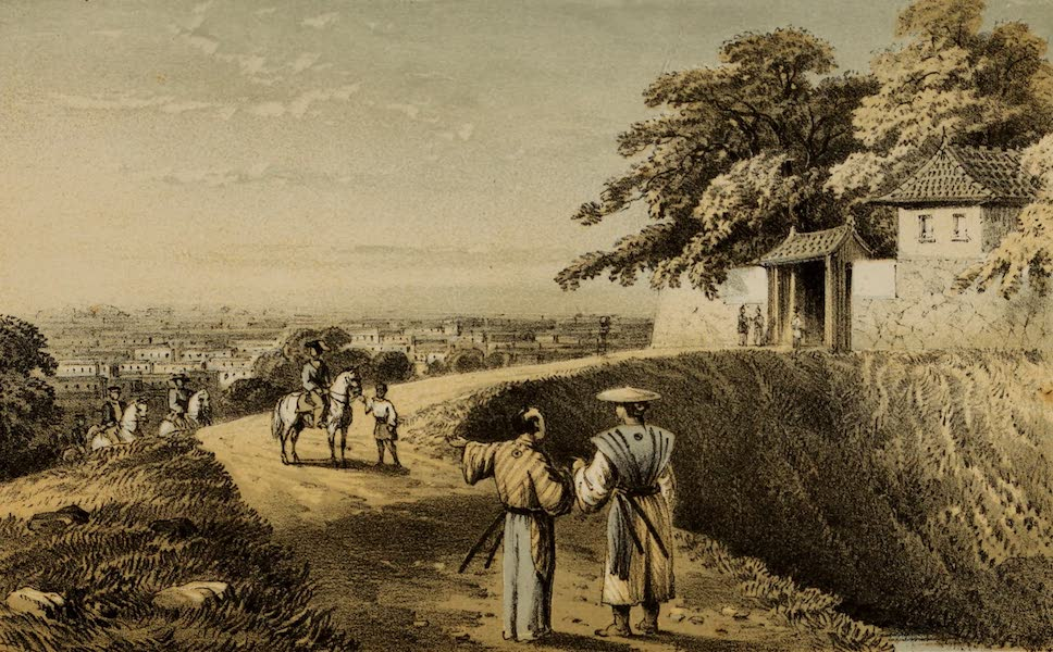 Narrative of the Earl of Elgin's Mission Vol. 2 - View of Yedo from the Citadel (1859)