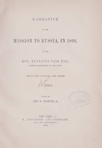 Wyoming - Narrative of the Mission to Russia, in 1866