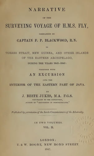 Natural History - Narrative of the Surveying Voyage of H.M.S. Fly Vol. 2