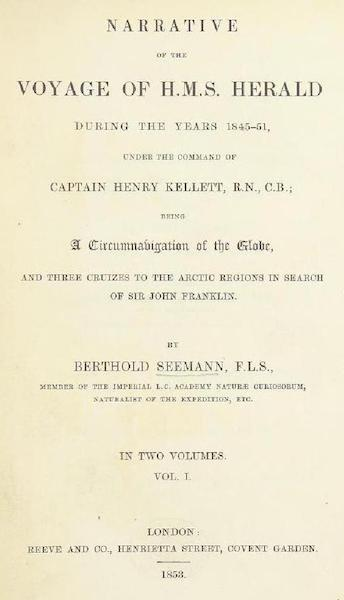 Narrative of the Voyage of H.M.S. Herald Vol. 1 - Title Page (1853)