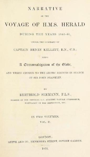 Narrative of the Voyage of H.M.S. Herald Vol. 2 - Title Page (1853)