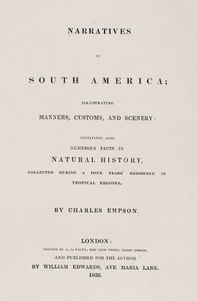 Narratives of South America - Title Page (1836)