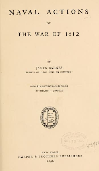Naval Actions of the War of 1812 - Title Page (1896)