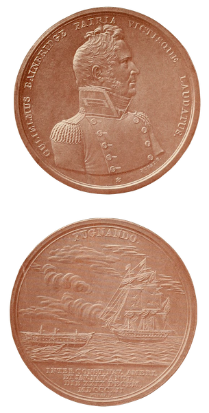 Naval Actions of the War of 1812 - Medal Presented by Congress to Captain William Bainbridge (1896)