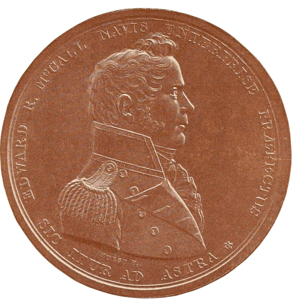 Naval Actions of the War of 1812 - Medal Presented by Congress to Lieutenant Edward R. Mccall (1896)