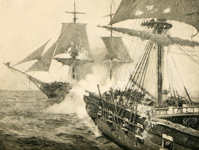 """Naval Actions of the War of 1812 - The """"Enterprise"""" Hulling the """"Boxer"""" (1896)"""
