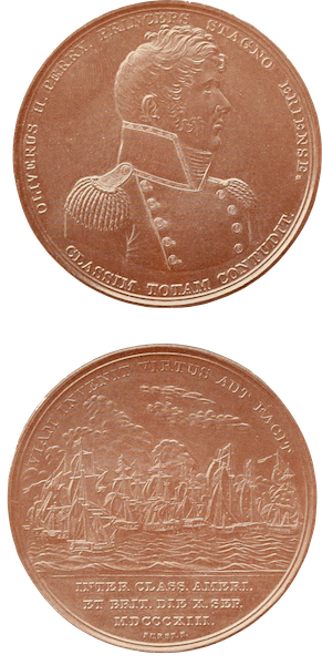 Naval Actions of the War of 1812 - Medal Presented by Congress to Captain Oliver Hazard Perry (1896)