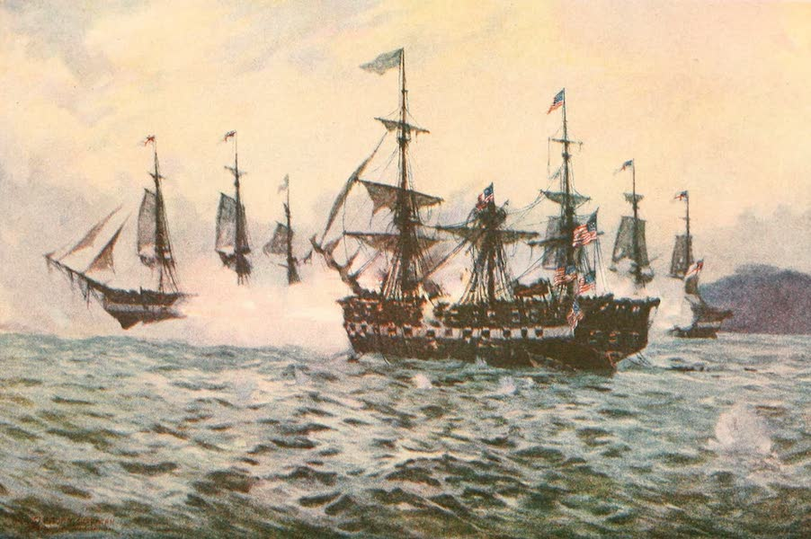 """Naval Actions of the War of 1812 - The """"Essex"""" Being Cut to Pieces (1896)"""