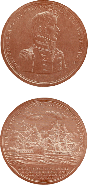 Naval Actions of the War of 1812 - Medal Presented by Congress to Captain Johnston Blakeley (1896)