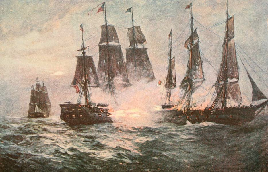 """Naval Actions of the War of 1812 - The """"Constitution"""" Taking the """"Cyane"""" (1896)"""