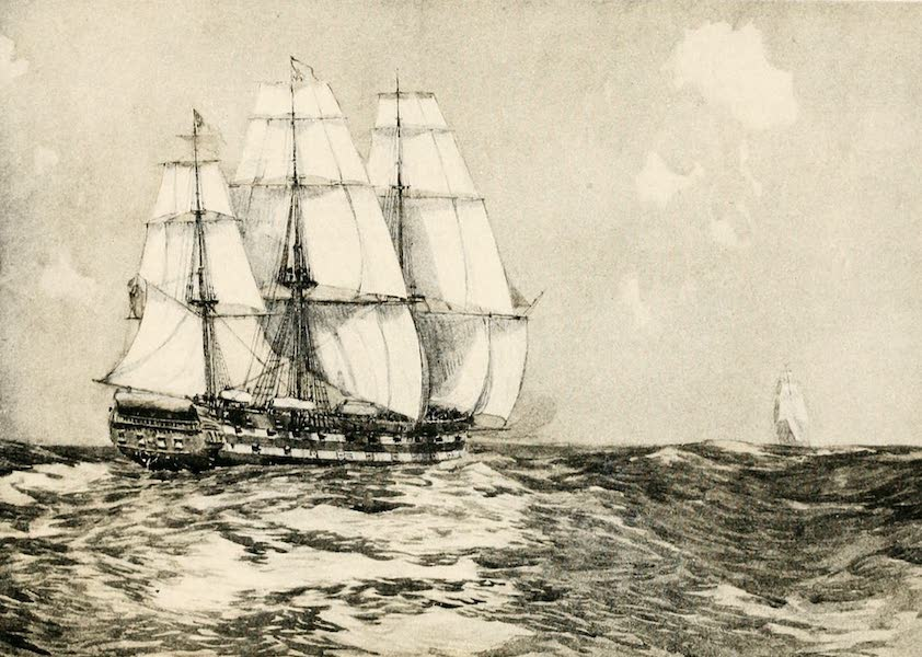 """Naval Actions of the War of 1812 - The """"Cornwallis"""" Gaining on the """"Hornet"""" (1896)"""