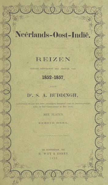 Neerlands-Oost-Indie Vol. 1 - Front Cover (1859)