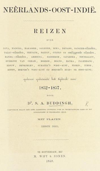Neerlands-Oost-Indie Vol. 1 - Title Page (1859)