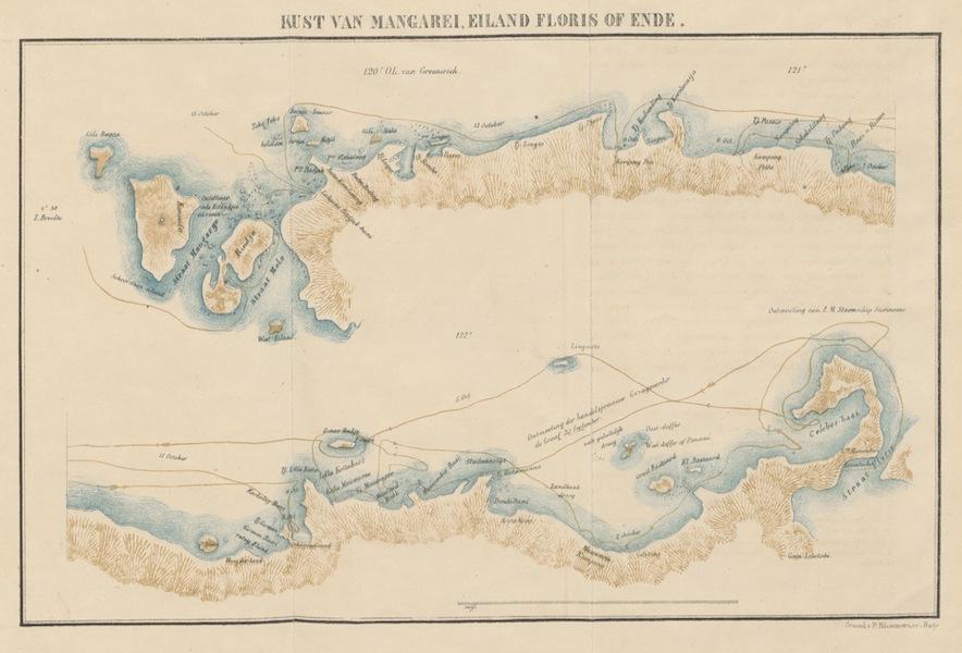 Neerlands-Oost-Indie Vol. 3 - Kust Van Mangarei Island, Floris Of Ende (1859)