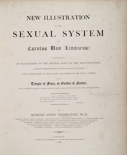 Natural History - New Illustration of the Sexual System of Carolus von Linnaeus
