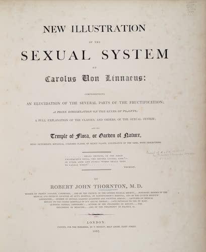 Aquatint & Lithography - New Illustration of the Sexual System of Carolus von Linnaeus