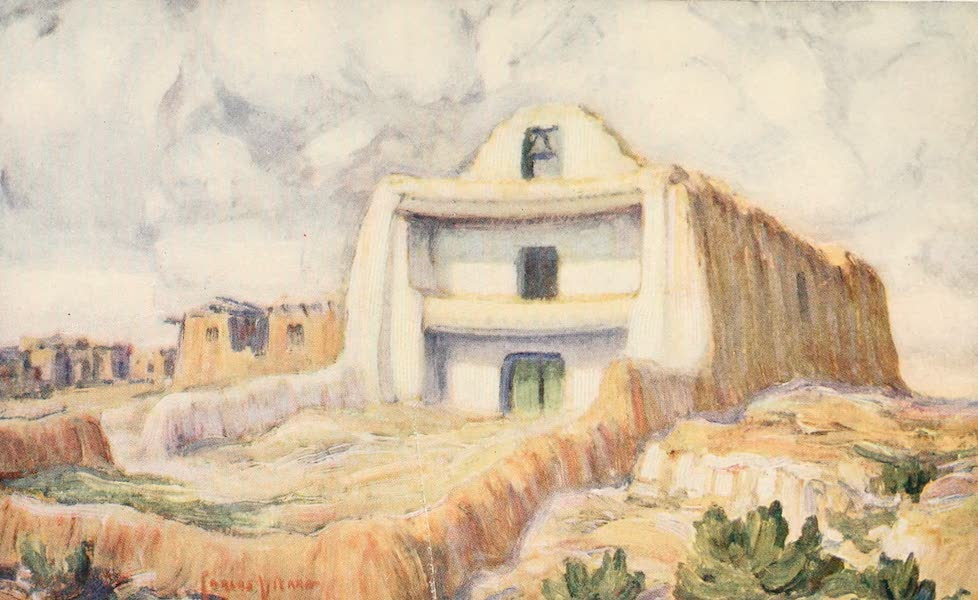 New Mexico, The Land of the Delight Makers - The Old Franciscan Mission at the Pueblo of Zia (1920)