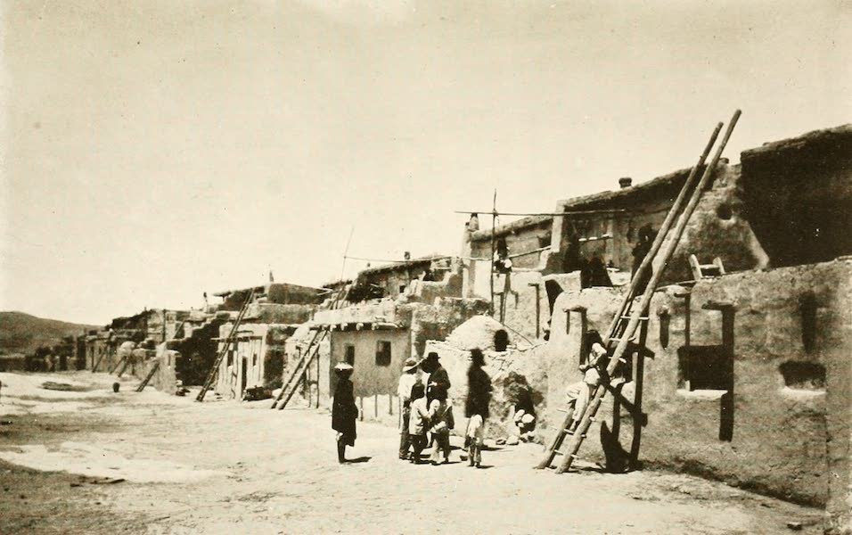 New Mexico, The Land of the Delight Makers - A Street in Acoma (1920)