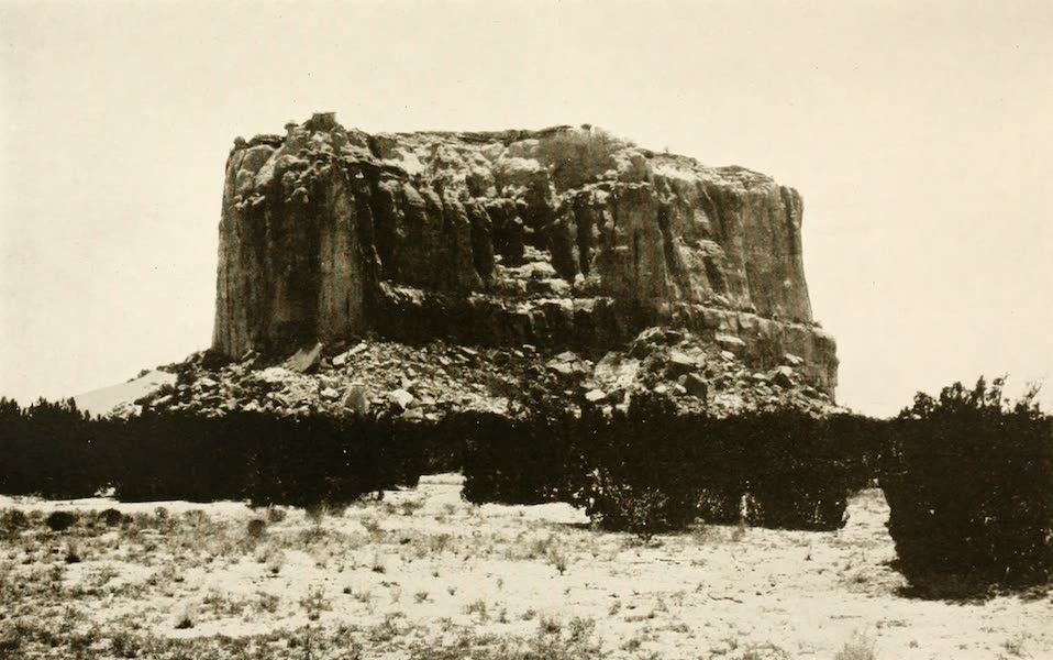 New Mexico, The Land of the Delight Makers - Katzimo, or the Enchanted Mesa, from the North (1920)