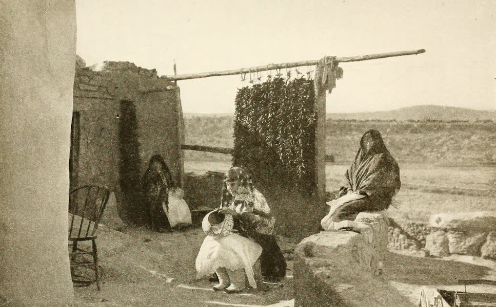New Mexico, The Land of the Delight Makers - Pueblo Indians Making Pottery (1920)