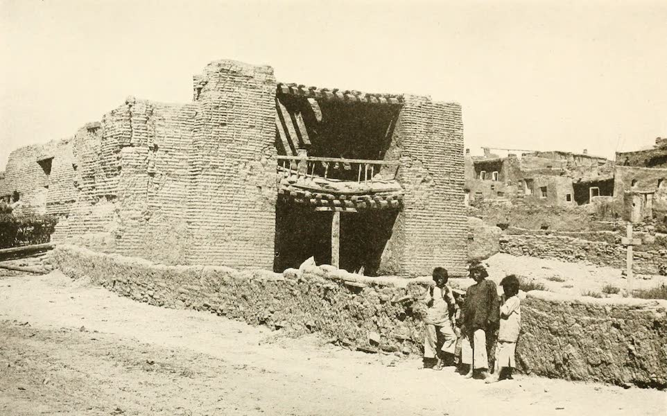 New Mexico, The Land of the Delight Makers - The Old Mission Church at Zuni (1920)