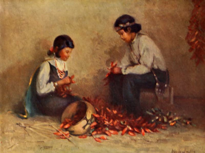 New Mexico, The Land of the Delight Makers - The Pepper Stringers (1920)