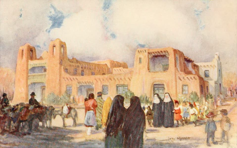 """New Mexico, The Land of the Delight Makers - """"The Cathedral of the Desert"""" : Museum and Auditorium, Santa Fe (1920)"""