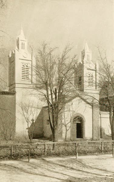 New Mexico, The Land of the Delight Makers - Church of San Felipe de Neri (1920)