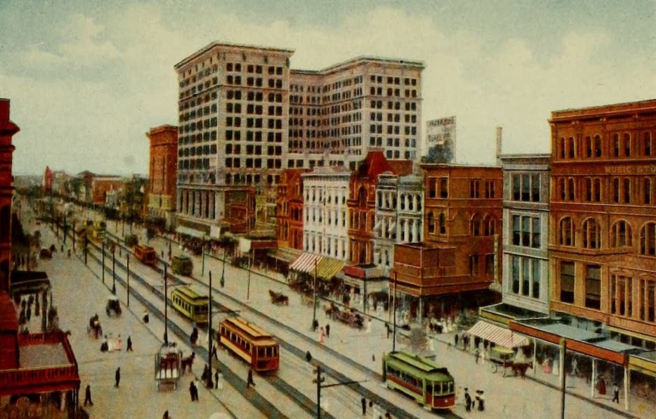 New Orleans, The Gateway to the Panama Canal - Canal Street (1913)