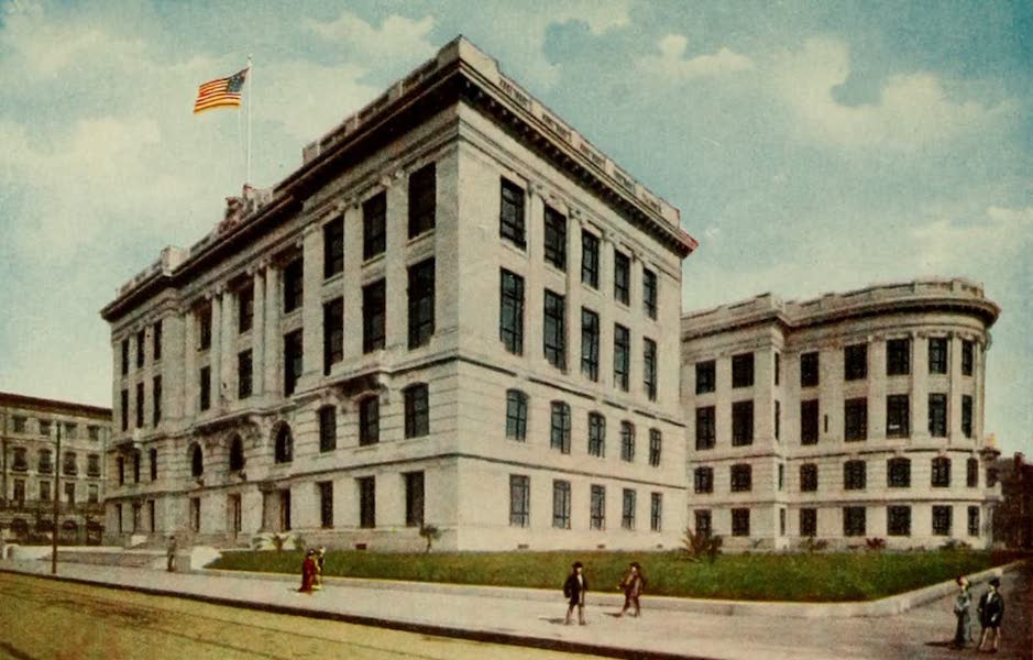 New Orleans, The Gateway to the Panama Canal - The New State Court House (1913)