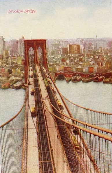 New York, The Empire City - Birdseye View of Brooklyn Bridge  (1910)