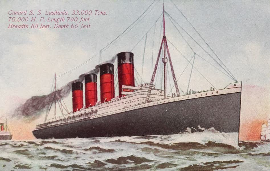 New York, The Empire City - Steamship Lusitania (1910)
