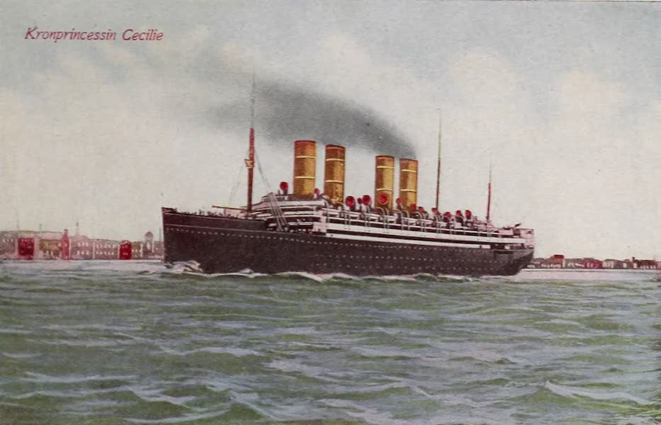 New York, The Empire City - Steamship Kronprincessin Cecilie (1910)