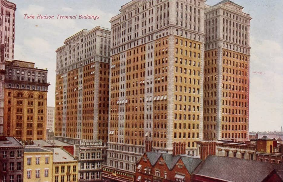 New York, The Empire City - Twin Hudson Terminal Buildings (1910)