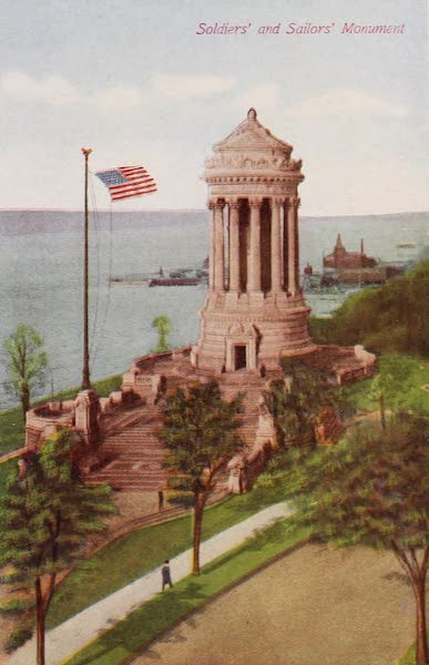 New York, The Empire City - Riverside Drive and Soldiers' and Sailors' Monument (1910)